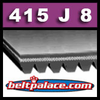 415J8 Poly-V Belt, Metric 8-PJ1054 Motor Belt.