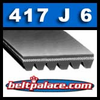 417J6 Poly-V Belt, Metric 6-PJ1060 Motor Belt.