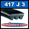 417J3 Poly-V Belt, Industrial Grade Metric 3-PJ1060 Motor Belt.