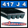 417J4 Poly-V Belt (Micro-V): Metric 4-PJ1060 Drive Belt.