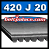 420J20 GATES MICRO-V Belt (Poly-V): Metric 20-PJ1067 Motor Belt.