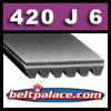 420J6 Poly-V Belt (Standard). Metric 6-PJ1067 Motor Belt.