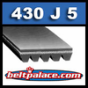 430J5 Poly-V Belt, Metric 5-PJ1092 Motor Belt.