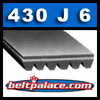 430J6 Poly-V Belt (Micro-V): Metric 6-PJ1092 Motor Belt. BT-33 BELT.