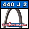 440J2 Poly-V Belt, Metric 2-PJ1118 Motor Belt.