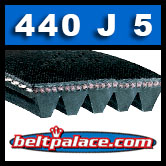 440J5 Poly-V Belt. Industrial Grade Metric 5-PJ1118 Motor Belt.