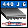 440J6 Poly V Belt, Industrial Grade Metric PJ1118-6 rib.