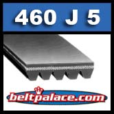 460J5 Poly-V Belt (Micro-V): Metric 5-PJ1168 Motor Belt.