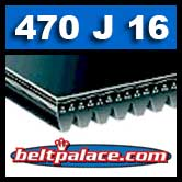470J16 Poly-V Belt, Metric 16-PJ1194 Drive Belt.