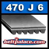 470J6 Poly-V Belt, Metric 6-PJ1194 Motor Belt. Industrial Grade.