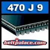 470J9 Poly-V Belt, Industrial Grade Metric 9-PJ1194 Motor Belt.