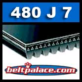 480J7 Poly-V Belt. Metric 7-PJ1219 Drive Belt.
