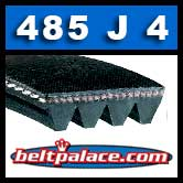 485J4 Poly-V Belt, Metric 4-PJ1232 Drive Belt.