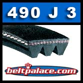 490J3 Poly-V Belt, Metric 3-PJ1245 Motor Belt. *CLEARANCE*