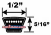 4L Light Duty V-Belts (FHP) 4L Sections - CLICK HERE!