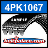 4PK1067 Automotive Serpentine (Micro-V) Belt: 1067mm x 4 ribs. 1067mm Effective Length.