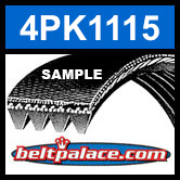4PK1115  Automotive Serpentine (Micro-V) Belt: 1115mm x 4 ribs. 1115mm Effective Length.