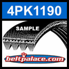 4PK1190 Automotive Serpentine (Micro-V) Belt: 1190mm x 4 ribs. 1190mm Effective Length.