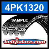 4PK1320 Automotive Serpentine (Micro-V) Belt: 1320mm x 4 ribs. 1320mm Effective Length.