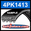 4PK1413 Automotive Serpentine (Micro-V) Belt: 1413mm x 4 ribs. 1413mm Effective Length.