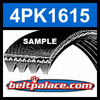 4PK1615 Automotive Serpentine (Micro-V) Belt: 1615mm x 4 ribs. 1615mm Effective Length.