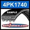 4PK1740 Automotive Serpentine (Micro-V) Belt: 1740mm x 4 ribs. 1740mm Effective Length.