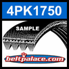 4PK1750 Automotive Serpentine (Micro-V) Belt: 1750mm x 4 ribs. 1750mm Effective Length.