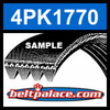 4PK1770 Automotive Serpentine (Micro-V) Belt: 1770mm x 4 ribs. 1770mm Effective Length.