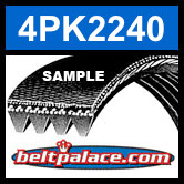 4PK2240 Automotive Serpentine (Micro-V) Belt: 2240mm x 4 ribs. 2240mm Effective Length.