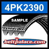 4PK2390 Automotive Serpentine (Micro-V) Belt: 2390mm x 4 ribs. 2390mm Effective Length.