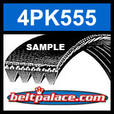4PK555 Automotive Serpentine (Micro-V) Belt: 555mm x 4 ribs. 555mm Effective Length.