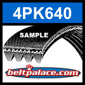 4PK640 Automotive Serpentine (Micro-V) Belt: 640mm x 4 ribs. 640mm Effective Length.
