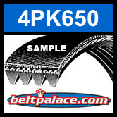 4PK650 Automotive Serpentine (Micro-V) Belt