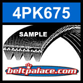 4PK675 Automotive Serpentine (Micro-V) Belt: 675mm x 4 ribs. 675mm Effective Length.