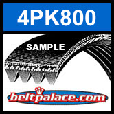 4PK800 Automotive Serpentine (Micro-V) Belt