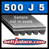 500J5 Belt, Poly-V, 5PJ1270 Metric Belt.