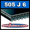 505J6 Poly-V Belt, Industrial Grade Metric 6-PJ1283 Motor Belt.