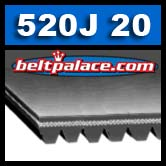 520J20 Poly-V Belt. Metric 20-PJ1321 Motor Belt.