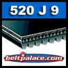 520J9 Poly-V Belt, Industrial Grade Metric 9-PJ1321 Motor Belt.
