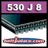 530J8 Poly-V Belt. Metric 8-PJ1346 Motor Belt