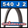 540J2 Poly-V Belt, Metric 2-PJ1372 Motor Belt.