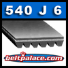 540J6 Poly-V Belt. Metric 6-PJ1372 Motor Belt.
