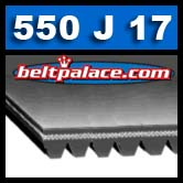 550J17 Poly-V Belt, Metric 17-PJ1397 Belt.