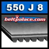 550J8 Poly-V Belt, Metric 8-PJ1397 Motor Belt.