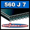 560J7 Poly-V Belt, Industrial Grade. Metric 7-PJ1422 Drive Belt.