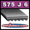 575J6 Poly-V Belt (Micro-V): Metric 6-PJ1461 Motor Belt.