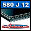 580J12 Poly-V Belt (Micro-V): Metric 12-PJ1473 Motor Belt.