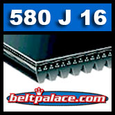 580J16 Poly-V Belt (Micro-V): Metric 16-PJ1473 Motor Belt.