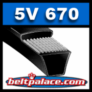 "5V670. ""Narrow"" V-Belt, 5V Section: 67"" (1702mm) Length, 5/8"" Wide."