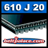 610J20 Poly-V Belt, Metric 20-PJ1549 Motor Belt.